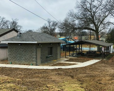 The new park restroom will provide restroom facilities to guests at the picnic shelter