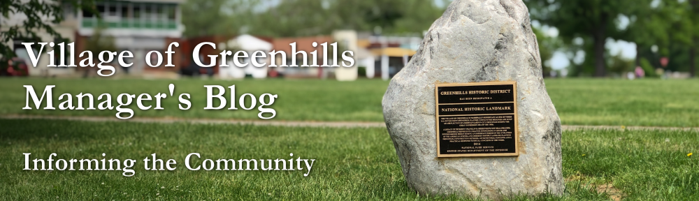 Village of Greenhills Manager's Blog